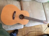 """Unused Art and Luther """"left handed"""" guitar Folk Wild Cherry"""