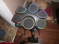 playstation drum set and guatair