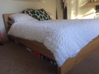 Wooden bed in good condition