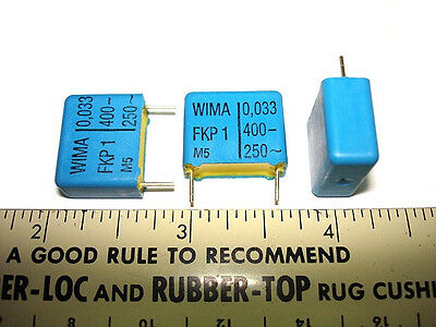 10 .033uf 400v 5 Wima Fkp1 Quality Tube Amp Amplifier Capacitors New