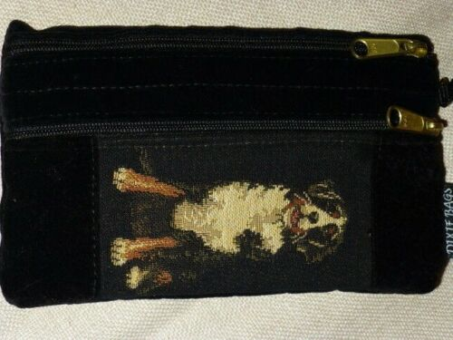 """Greater SwIss Mt. Dog Tapestry Double-Zip 7 3/4"""" x 4 1/2"""" Double Zip Case, USA"""