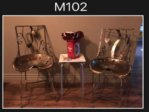 Tractor Seat chairs - art pieces - custom MADE IN BC-