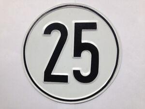 Geschwindigkeitsschild Schild Stahlblech für Anhänger Taktoren Oldtimer 25 KM/H
