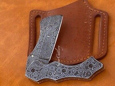 HANDMADE SOLID FULL DAMASCUS STEEL BEST FOLDING KNIFE PREMIUM KNIVES US SALE