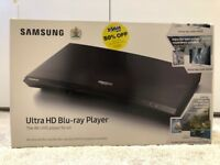 Samsung BRAND NEW 4K UHD Blu ray Player UBD-M9000 still in box with movies included