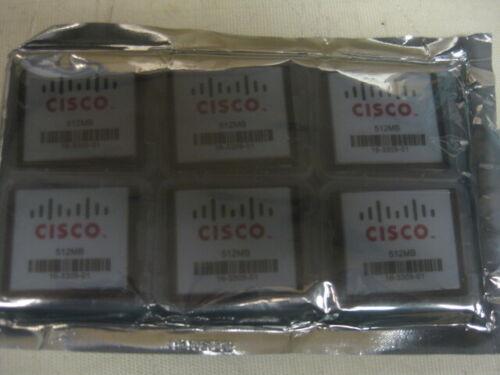 LOT OF 6 CISCO 16-3309-01 512MB COMPACT FLASH MEMORY CARD *UNUSED SURPLUS*