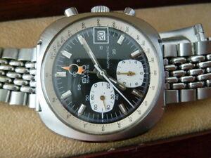 BWC Lemania 1340 Speedmaster Automatic Vintage Chronograph 60-70er SWISS