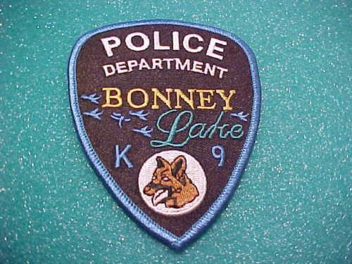 BONNEY LAKE WASHINGTON K-9 UNITS POLICE PATCH SHOULDER SIZE UNUSED