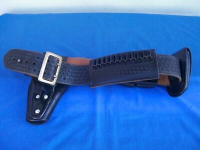 Police Duty Leather Basketweave Gear Belt With Accesories Bucheimer Belt Jay-pee