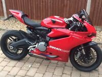 Ducati 959 with Full Akrapovic Underslung Exhausts & Extra's