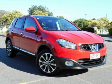 2012 Nissan Dualis J10W Series 3 MY12 Ti Hatch X-tronic 2WD Red 6 Speed Constant Variable Hatchback