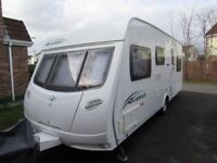 Lunar Quaser 546 2009 6 Berth Caravan Excellent Condition also Corsican Awning and Motor Mover