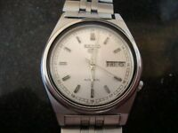 VINTAGE MENS SEIKO AUTOMATIC WATCH SS BRACELET1970S