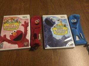 Cookie Monster/Elmo Wii Games and Covers