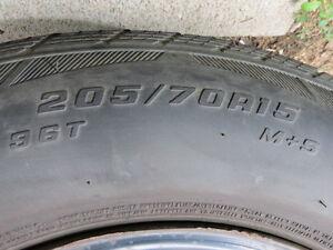 4 Cooper Lifeliner Touring SLE tires on rims
