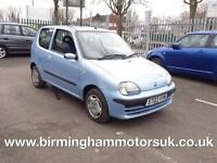 2003 (03 Reg) Fiat Seicento ACTIVE 3DR Hatchback BLUE + LOW MILES