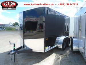 DISCOUNTED -INSTOCK SPECIAL 6X12 ENCLOSED TANDEM AXLE CARGO RAMP