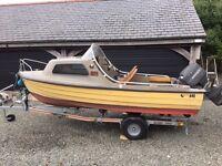 Bonwitco 400c Cabin Boat, Mariner 50HP & new trailer
