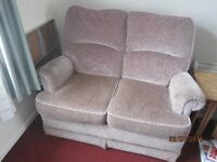 velour two seater sofa