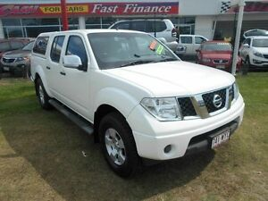 2009 Nissan Navara D40 ST-X White 6 Speed Manual Utility Kippa-ring Redcliffe Area Preview