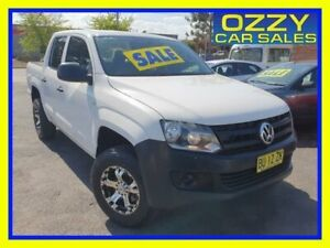 2013 Volkswagen Amarok 2H MY13 TSI300 (4x2) Candy White 6 Speed Manual Dual Cab Utility Minto Campbelltown Area Preview