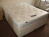 Kingsize SilentNight Firm Miracoil Mattress and 4 drawer Kingsize Rest assured Divan Bed