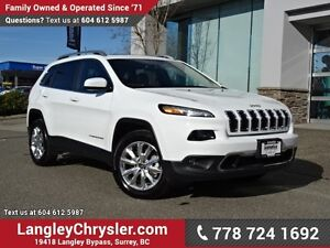 2016 Jeep Cherokee Limited ACCIDENT FREE w/ 4X4, PANORAMIC SU...