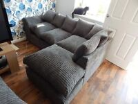 NEW JUMBO CORD CORNER SOFA CAN DELIVER FREEEE