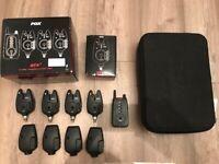 Fox NTXr 4 Rod Bite Alarm & Receiver Presentation Set *MINT* Carp Fishing Tackle