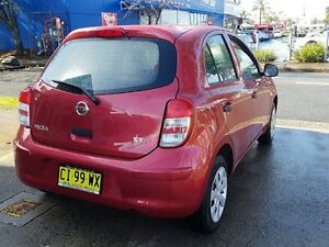 2014 Nissan Micra K13 MY13 ST Red 5 Speed Manual Hatchback Five Dock Canada Bay Area Preview