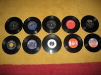 A Nice Selection Of Ten Vintage 7 Inch Vinyl Singles By Various Artists 1960s/70s/90s.