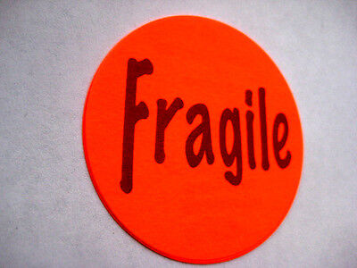 250 Fragile Label Sticker Big 2 Round Best Price