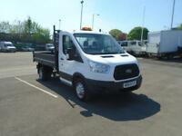 Ford Transit 2.2 Tdci 125PS SINGLE CAB TIPPER DIESEL MANUAL WHITE (2014)
