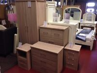 New Sonoma 2 door Wardrobe with METAL HANDLES & locking drawer ONLY £125 IN STOCK NOW