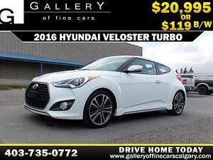 2016 Hyundai Veloster Turbo $119 bi-weekly APPLY NOW DRIVE NOW