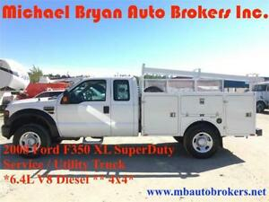 2008 FORD F350 4X4 - SERVICE TRUCK / UTILITY TRUCK *GREAT PRICE*