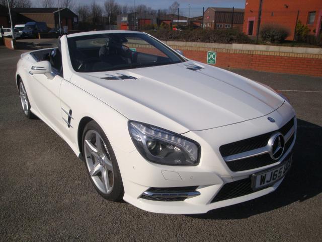 65 Mercedes Benz Sl400 Amg Convertible 2 Door 7g Auto Leather Polar White