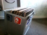 Drum and bass job lot plus record box, few grime/dubstep