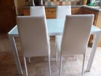 Stylish Dining Table & Chairs AS NEW