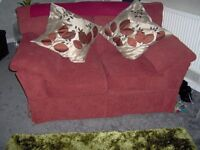 TWO SEATER SOFA, CLOTH, WASHABLE COVERS,