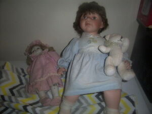 Doll and Desk,Boy Fishing,Girl Doll with teddy Bear,wooden doll. Kingston Kingston Area image 10
