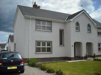 Three Bedroom semi detached house to let. Low maintenance & partially furnished.