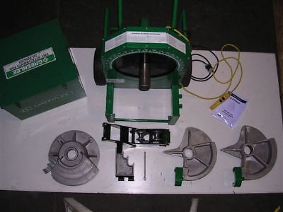 Lightly Used Greenlee 555 Conduit Pipe Bender 3 Shoes 2 Rollers Emt Real Beauty