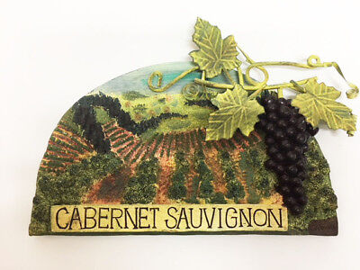 New Cabernet Sauvignon Red Wine Grapes Vineyard Wall Decor Plaque, used for sale  Boynton Beach
