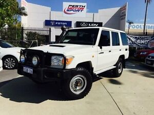 2012 Toyota Landcruiser VDJ76R 09 Upgrade Workmate (4x4) White 5 Speed Manual Wagon Beckenham Gosnells Area Preview