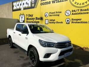 2018 Toyota Hilux GUN126R SR Double Cab White 6 Speed Sports Automatic Utility Invermay Launceston Area Preview