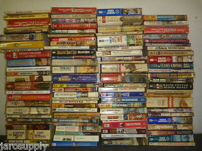 Lot of 20 Zane Grey Louis L'amour Western Paperback Fiction Books MIX UNSORTED