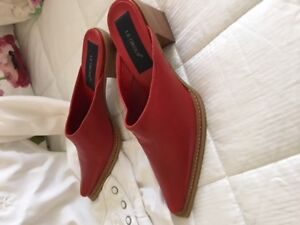 Red Italian shoes - new