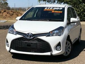 2016 Toyota Yaris NCP131R SX White 4 Speed Automatic Hatchback Hillvue Tamworth City Preview