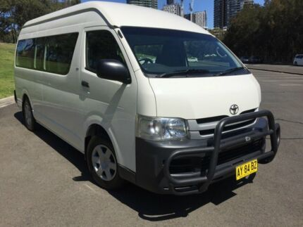 2009 Toyota HiAce TRH223R MY07 Upgrade Commuter White 4 Speed Automatic Bus Homebush West Strathfield Area Preview